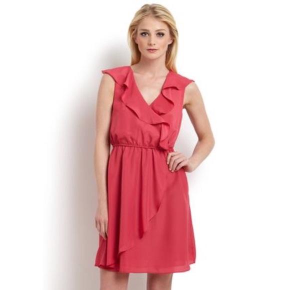 3dddc444f39 BCBGeneration Dresses   Skirts - BCBGeneration Chiffon Ruffle Dress V-neck